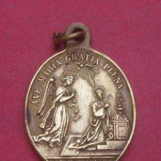 Antigüedades: MEDALLA ANTIGUA LA ANUNCIACIÓN. ORDEN FRANCISCANA. NAZARET.. Lote 214193808