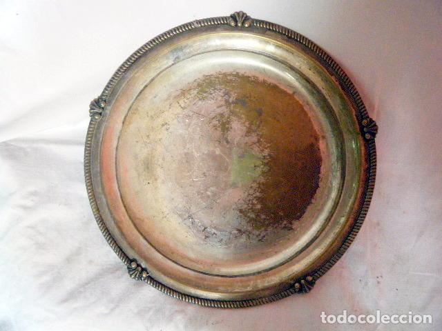 Antigüedades: LOTE CINCO BANDEJAS EN METAL PLATEADO - Foto 2 - 214197928