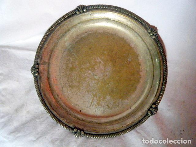 Antigüedades: LOTE CINCO BANDEJAS EN METAL PLATEADO - Foto 3 - 214197928