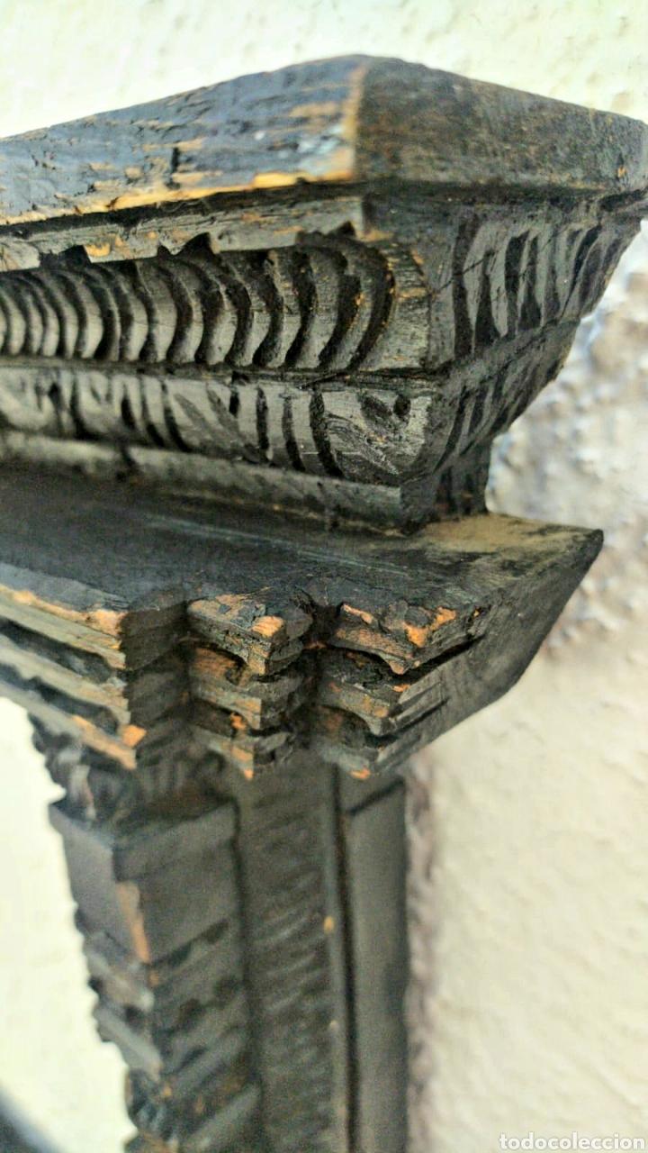 Antigüedades: ESPECTACULAR MARCO DE MADERA S.XVII - Foto 4 - 214203815