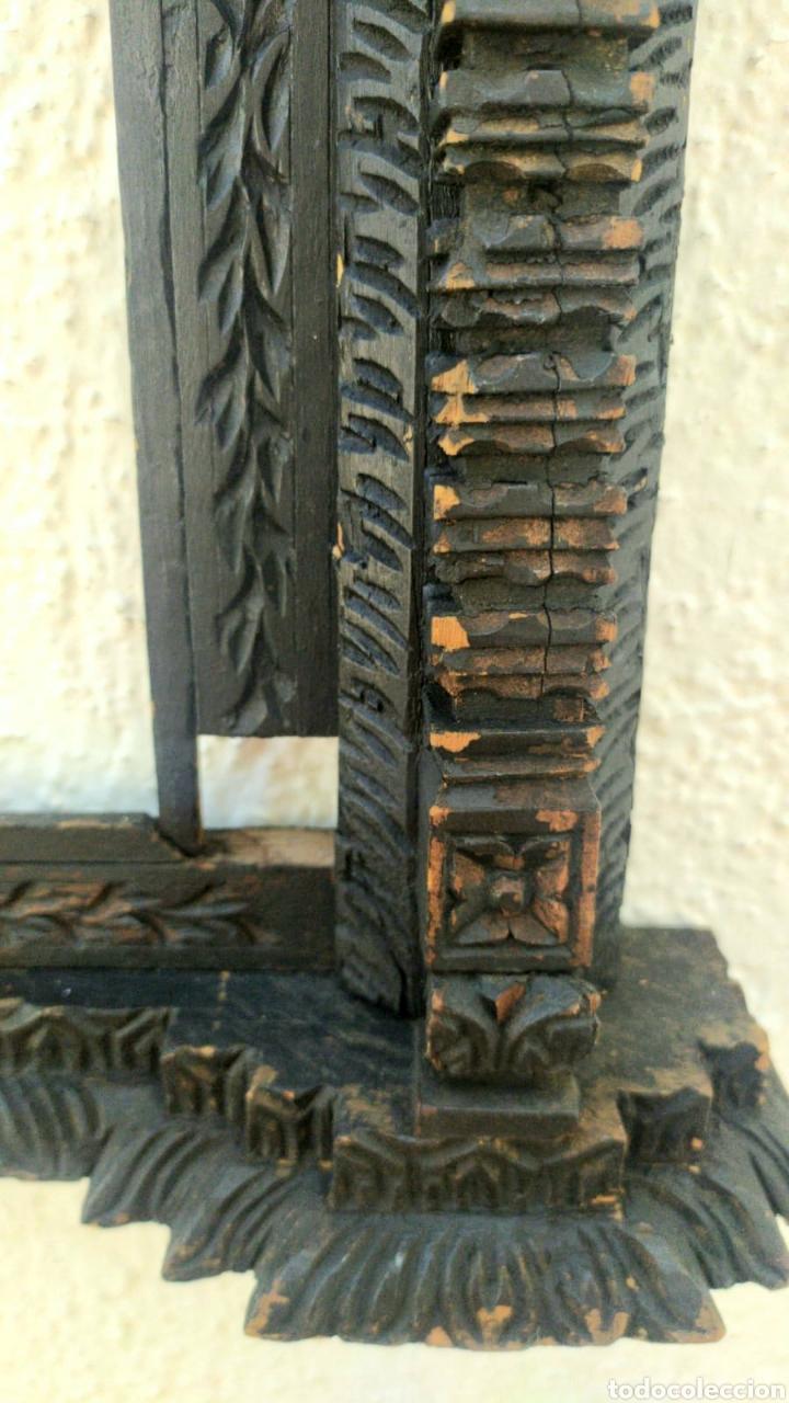 Antigüedades: ESPECTACULAR MARCO DE MADERA S.XVII - Foto 6 - 214203815