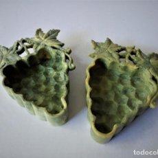 Antigüedades: PAREJA DE CENICEROS / VACIABOLSILLOS ORIENTALES PIEDRA DE JABÓN. Lote 214203963