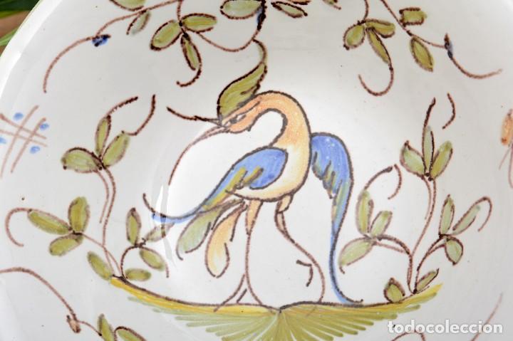 Antigüedades: Par de Platos antiguos pequeños de cerámica francesa la Tolosana - Foto 12 - 214204526
