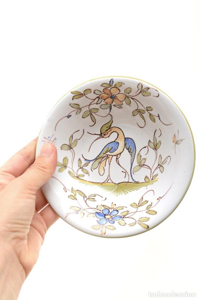 Antigüedades: Par de Platos antiguos pequeños de cerámica francesa la Tolosana - Foto 14 - 214204526