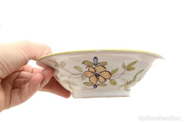 Antigüedades: Par de Platos antiguos pequeños de cerámica francesa la Tolosana - Foto 15 - 214204526