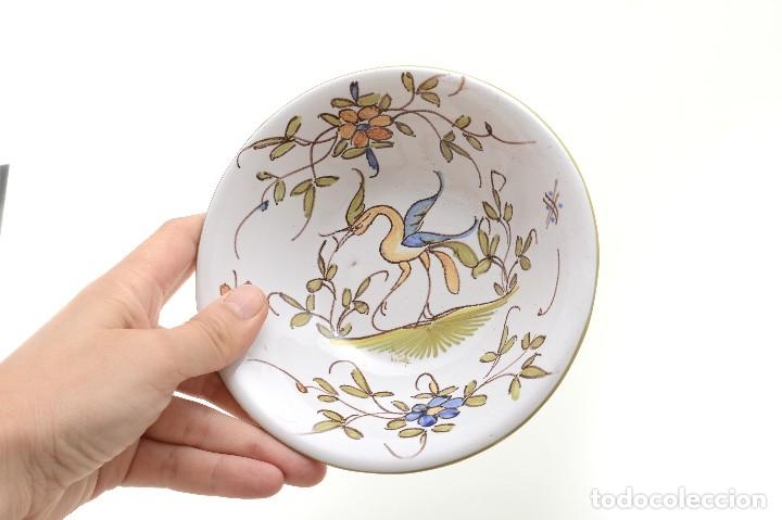 Antigüedades: Par de Platos antiguos pequeños de cerámica francesa la Tolosana - Foto 18 - 214204526
