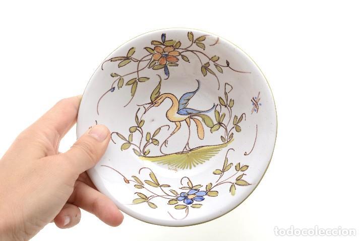 Antigüedades: Par de Platos antiguos pequeños de cerámica francesa la Tolosana - Foto 19 - 214204526