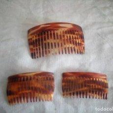 Antigüedades: LOTE DE 3 PEINETAS DE BAQUELITA.. Lote 214222483