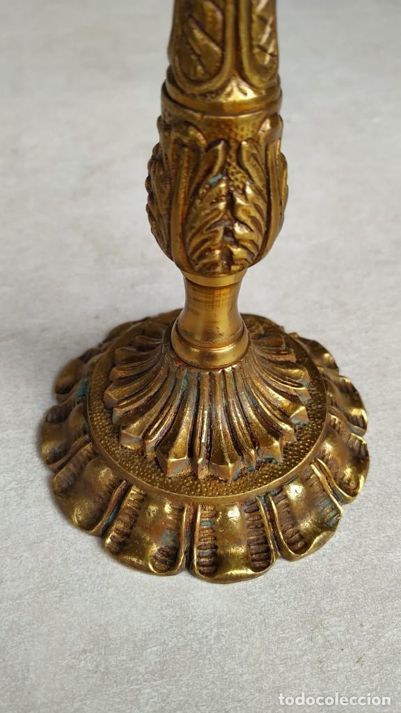 Antigüedades: Apliques y un portalámparas de bronce - Foto 12 - 214234268