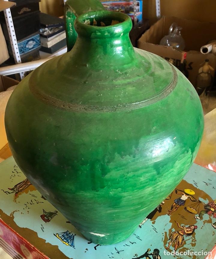 Antigüedades: Bonito cántaro antiguo verde - Foto 3 - 214260555