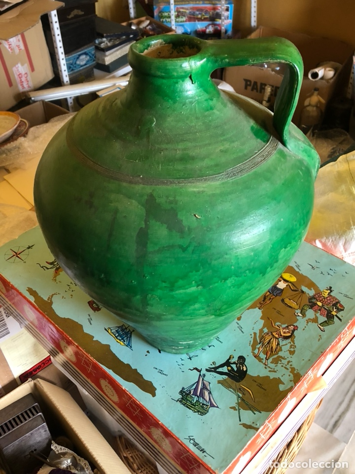 Antigüedades: Bonito cántaro antiguo verde - Foto 4 - 214260555