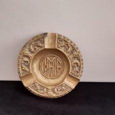 Antigüedades: ANTIGUO CENICERO BRONCE MACIZO LABRADO. Lote 214261102
