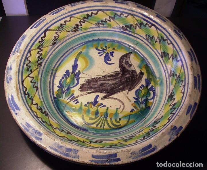 ROTUNDO Y GRAN LEBRILLO CERÁMICA DE TRIANA XIX (Antigüedades - Porcelanas y Cerámicas - Triana)
