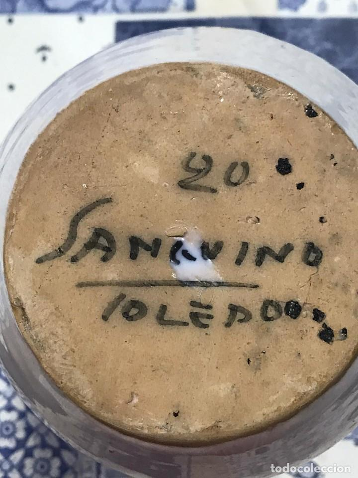 Antigüedades: ANTIGUO TARRO FARMACIA ALBARELO CERAMICA SANGUINO TOLEDO 20 - Foto 2 - 214303960