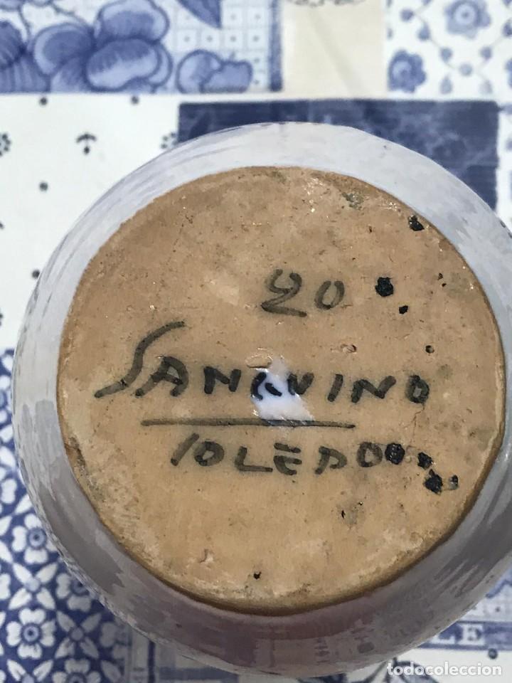 Antigüedades: ANTIGUO TARRO FARMACIA ALBARELO CERAMICA SANGUINO TOLEDO 20 - Foto 5 - 214303960