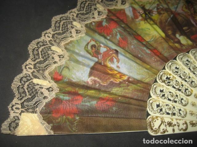 Antigüedades: ABANICO ESCENAS TAURINAS - Foto 2 - 214304691