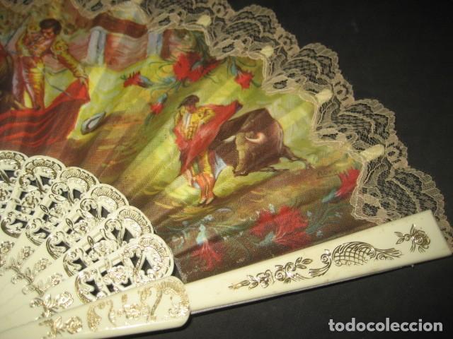 Antigüedades: ABANICO ESCENAS TAURINAS - Foto 4 - 214304691