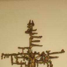 Antigüedades: ANTIGUA CRUZ RARA PRECIOSA EN BRONCE DE JESUS DE DALI 60 LARGO X 40 ANCHO. Lote 214305495