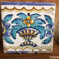 Antigüedades: AZULEJO DE MANISES DEL SIGLO XVIII. Lote 214313353