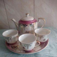 Antigüedades: JUEGO DE CAFÉ DE PORCELANA EIHO -MADE IN JAPAN,5 PIEZAS.. Lote 214324148