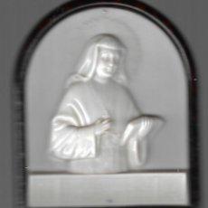 Antigüedades: ANTIGUA IMAGEN DE MESA ITALIANA DE PASTA DE LA BEATA VICENTA MARIA LOPEZ Y VICUÑA 10,5 X 9 CM. Lote 214361858