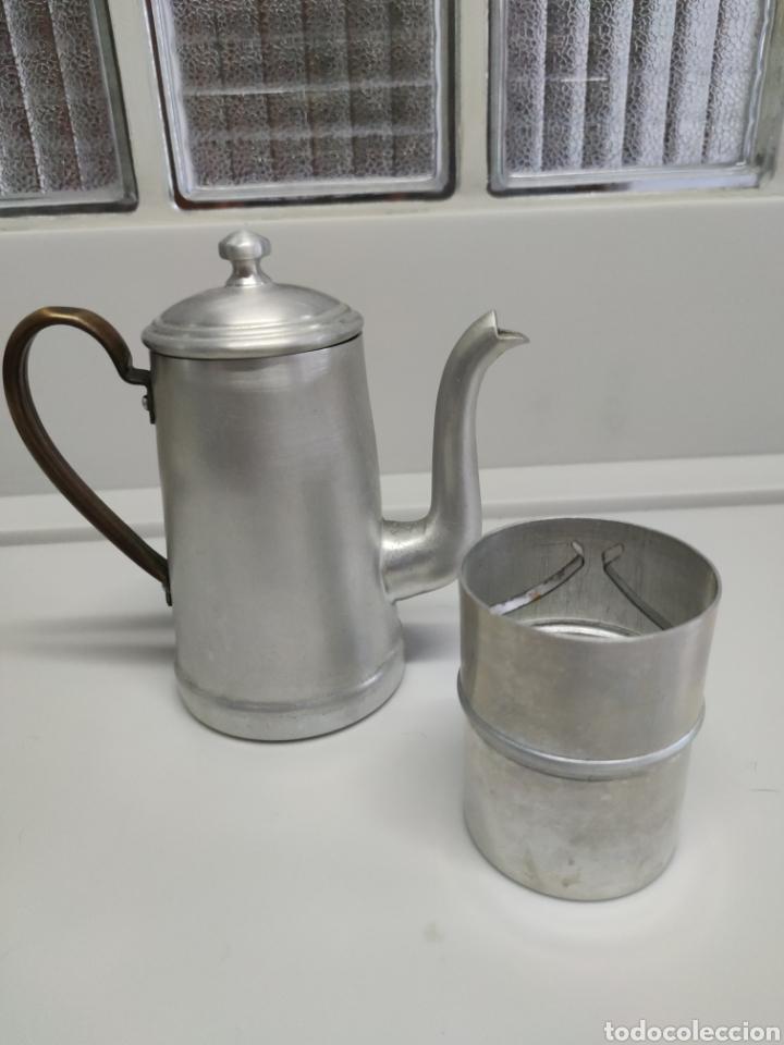Antigüedades: Cafetera aluminio - Foto 4 - 214366762