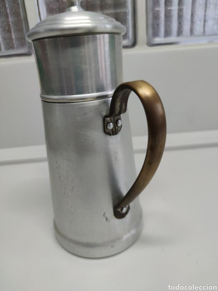 Antigüedades: Cafetera aluminio - Foto 6 - 214366762