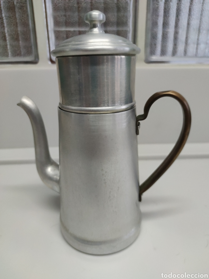 Antigüedades: Cafetera aluminio - Foto 7 - 214366762