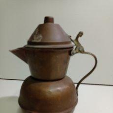 Antigüedades: ANTIGUA JARRA DE COBRE, LECHERA, CAFETERA, TETERA. COBRE MARTILLEADO. Lote 214379598