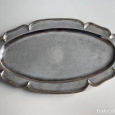 Antigüedades: BANDEJA DE PLATA CONTRASTADA 900 , TRAY SILVER 900 , MEDIDAS 36,3 X 20,6 CM.. Lote 214401087