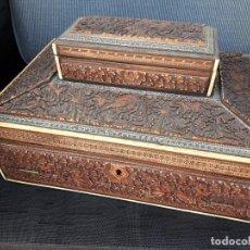 Antigüedades: CAJA ESCRITORIO ORIENTAL. Lote 214420955
