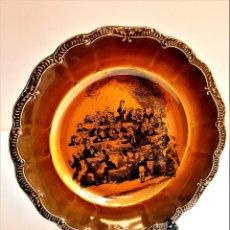 Antigüedades: 1837 PLATO NUMERADO ILUSTRACION CHAS DICKENS - 26.CM DIAMETRO. Lote 214442401