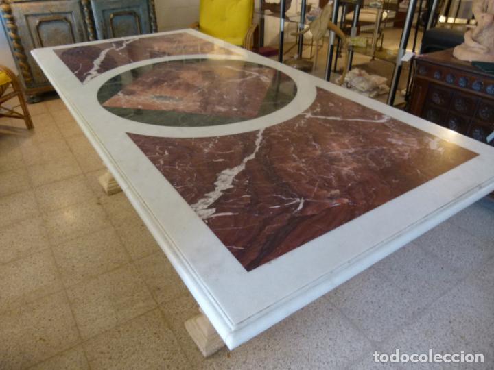 Antigüedades: MESA DE MARMOL CON INCUSTRACIONES - Foto 5 - 214447812