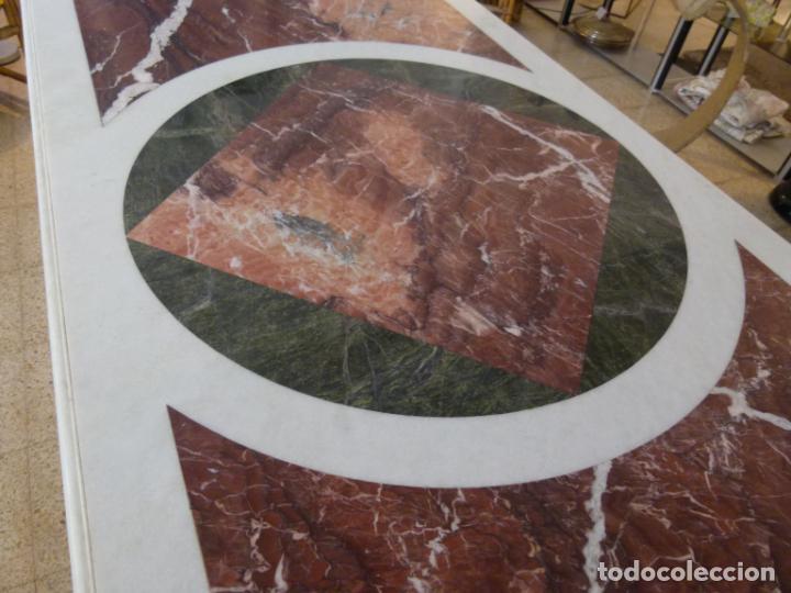 Antigüedades: MESA DE MARMOL CON INCUSTRACIONES - Foto 6 - 214447812