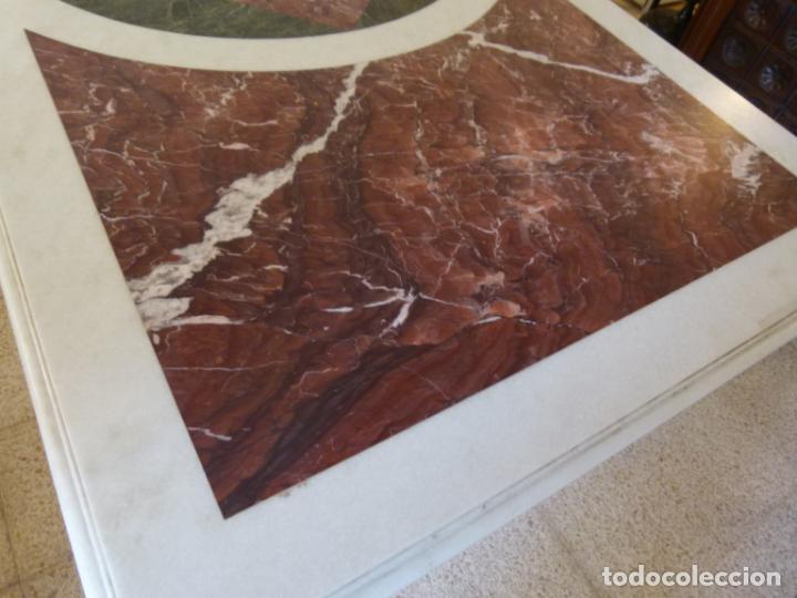 Antigüedades: MESA DE MARMOL CON INCUSTRACIONES - Foto 7 - 214447812