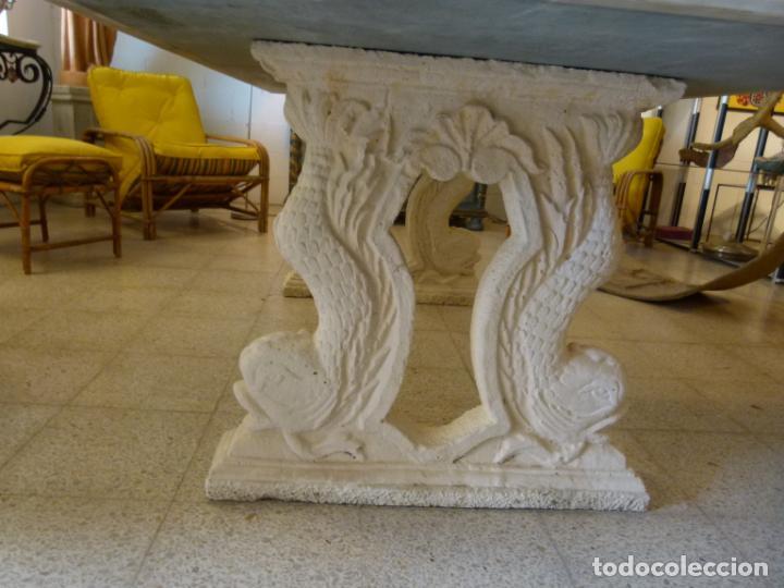 Antigüedades: MESA DE MARMOL CON INCUSTRACIONES - Foto 16 - 214447812