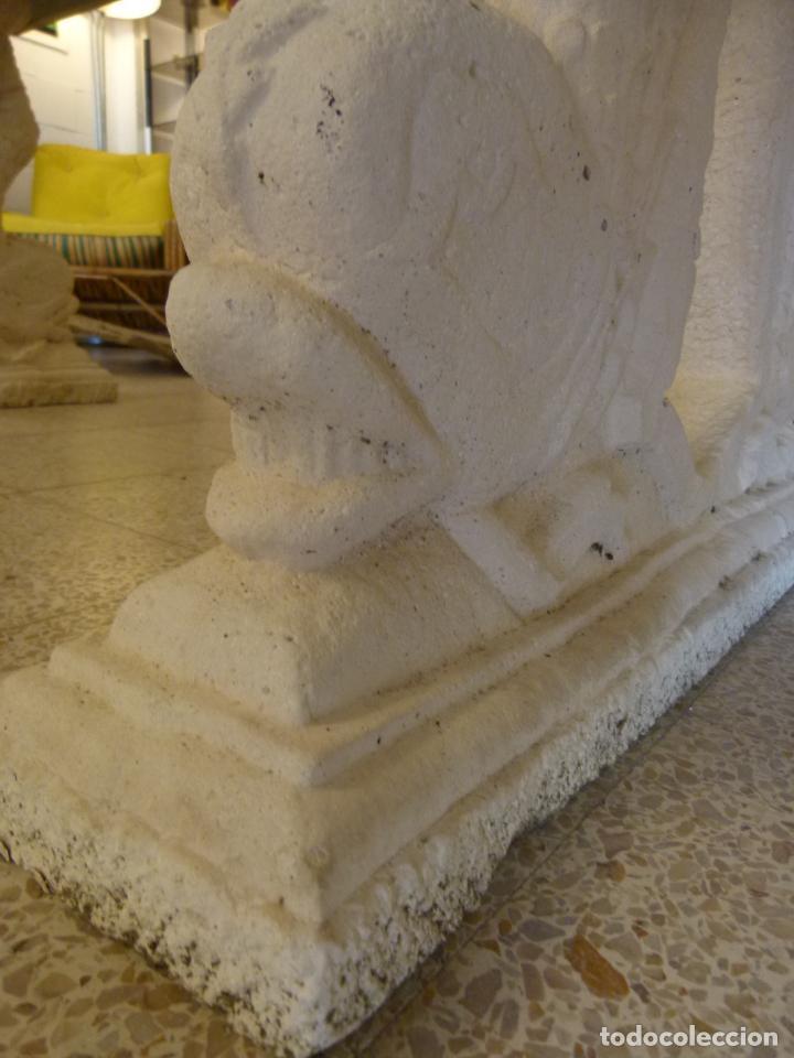 Antigüedades: MESA DE MARMOL CON INCUSTRACIONES - Foto 18 - 214447812