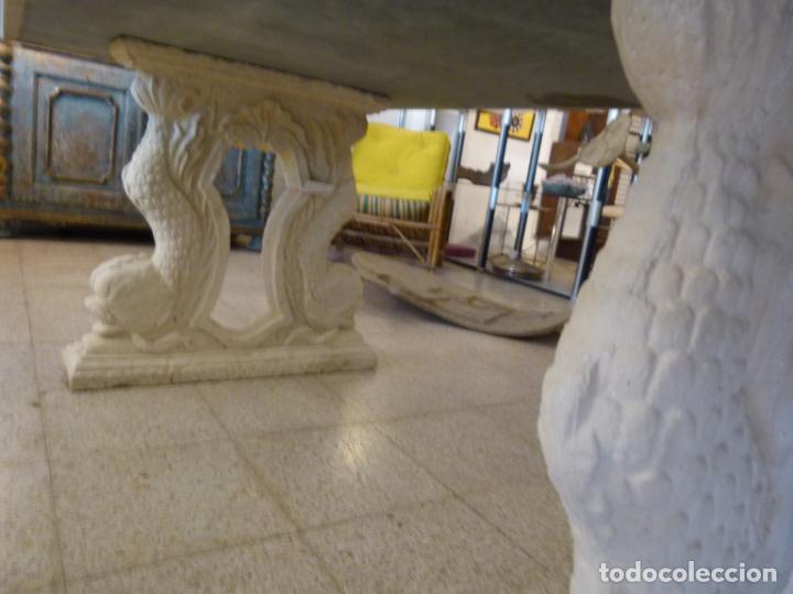 Antigüedades: MESA DE MARMOL CON INCUSTRACIONES - Foto 20 - 214447812