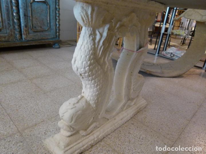 Antigüedades: MESA DE MARMOL CON INCUSTRACIONES - Foto 21 - 214447812