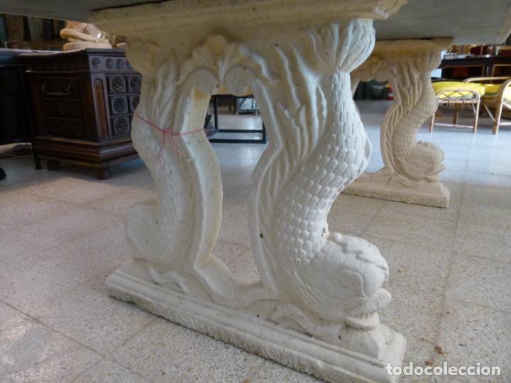 Antigüedades: MESA DE MARMOL CON INCUSTRACIONES - Foto 24 - 214447812