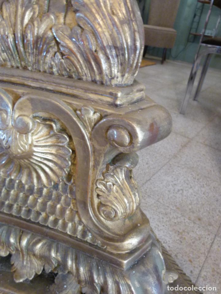 Antigüedades: CANDELABRO DE MADERA TALLADA SIGLO XIX - Foto 6 - 214448106