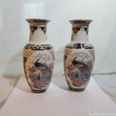 Antigüedades: LOTE DE 2 JARRONES C.C. MADE IN JAPAN. Lote 214455206