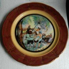 Antigüedades: MARIA LUISA FERNÁNDEZ CASIELLES- MARIXA. RARISIMO PLATO DE LA FABRICA SAN CLAUDIO PINTADO A MANO. Lote 214470157