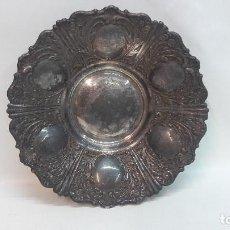 Antigüedades: ANTIGUO CENTRO BANDEJA BONITA DECORACION , METAL PLATEADO , MEDIDA 30 CM.. Lote 214492076