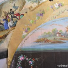 Antigüedades: CUATRO PAISES DE ABANICO. SIGLO XIX. APROX. 25 X 51 CM.. Lote 214498230