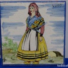 Antigüedades: ANTIGUO AZULEJO SIMBOLIZANDO LA PROVINCIA DE LUGO.. Lote 214500001