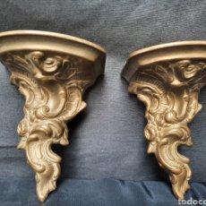 Antiquités: 2 MÉNSULAS / PEANAS DE BRONCE. Lote 214524303