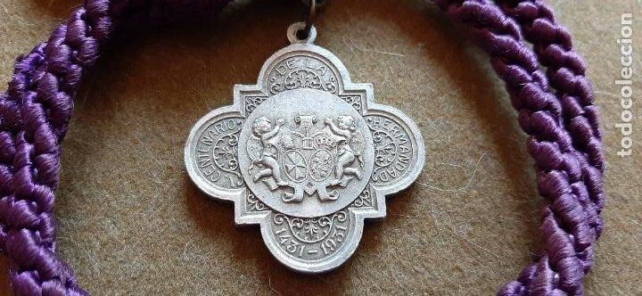 SEMANA SANTA SEVILLA - MEDALLA CON CORDÓN DEL V 5º CENTENARIO DE LA HDAD DEL GRAN PODER (Antigüedades - Religiosas - Medallas Antiguas)