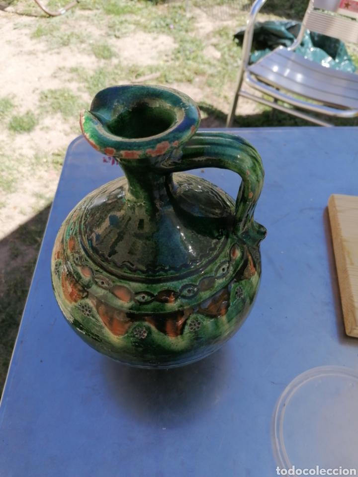 JARRA DE CERÁMICA VERDE (Antigüedades - Porcelanas y Cerámicas - Úbeda)