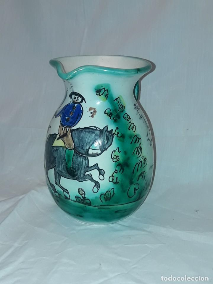 Antigüedades: Bella jarra de cerámica Santafe Puente Del Arzobispo Restaurante Botin Madrid - Foto 2 - 214570968